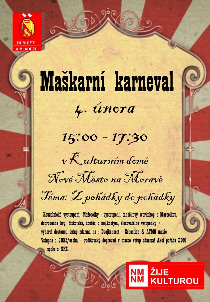 Maškarní karneval již tuto neděli